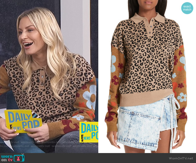 Paw Paw Polo Sweater by Sandy Liang worn by Morgan Stewart  on E! News