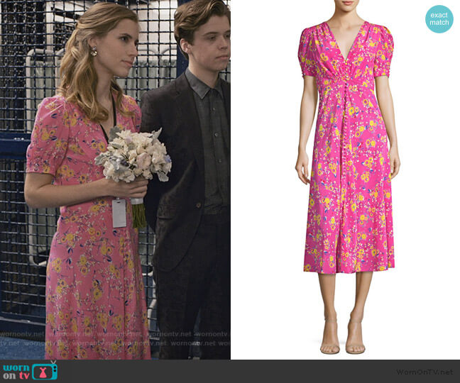 Lea dress by Saloni worn by Stephanie 'Stevie' McCord (Wallis Currie-Wood) on Madam Secretary