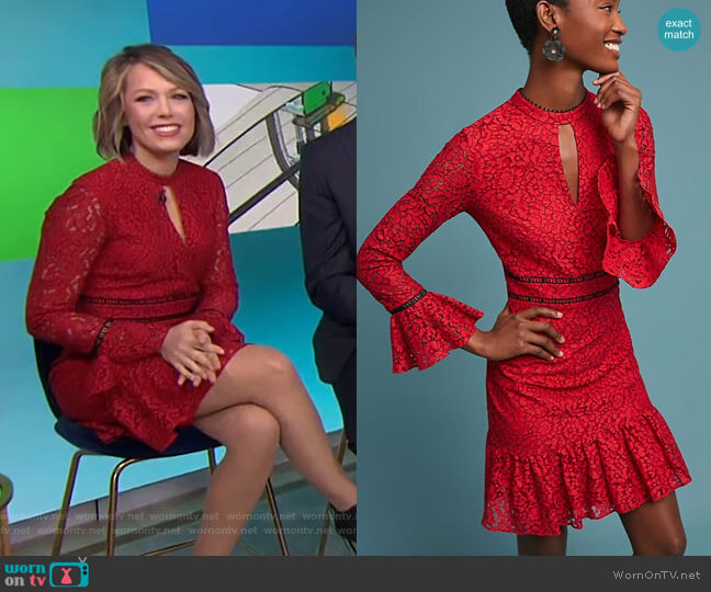 Kensington Lace Dress by Shoshanna worn by Dylan Dreyer  on Today