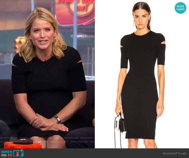 Slash Dress by Helmut Lang worn by Sara Haines  on Good Morning America