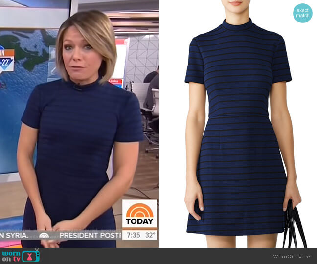 Stripe Knit Dress by Slate & Willow worn by Dylan Dreyer  on Today