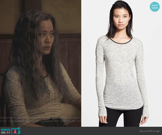 Spine Tee by Rag & Bone worn by Clarice Fong (Jamie Chung) on The Gifted