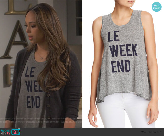 Le Weekend Trapeze Tank by Sundry worn by Claire (Amber Stevens West) on Happy Together