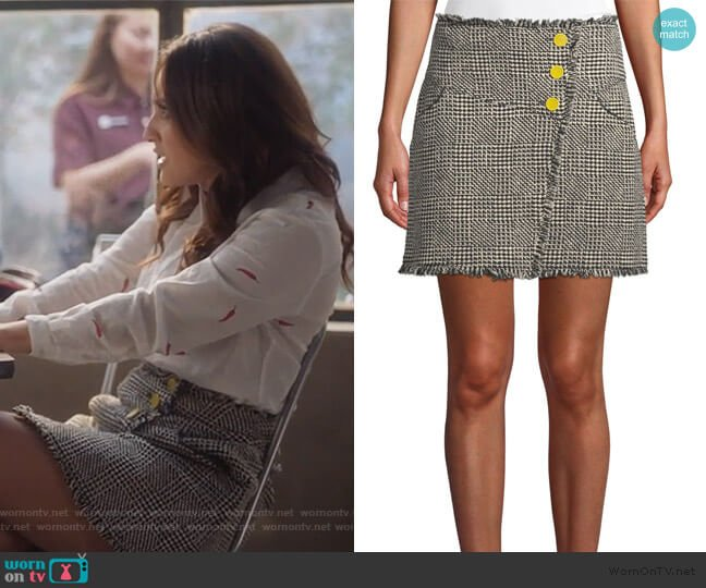 Monti Tweed Fringe Skirt by Tanya Taylor worn by Ana Torres (Francia Raisa) on Grown-ish