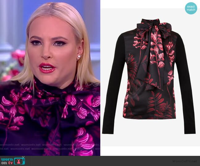 Hayanaa Blouse by Ted Baker worn by Meghan McCain  on The View