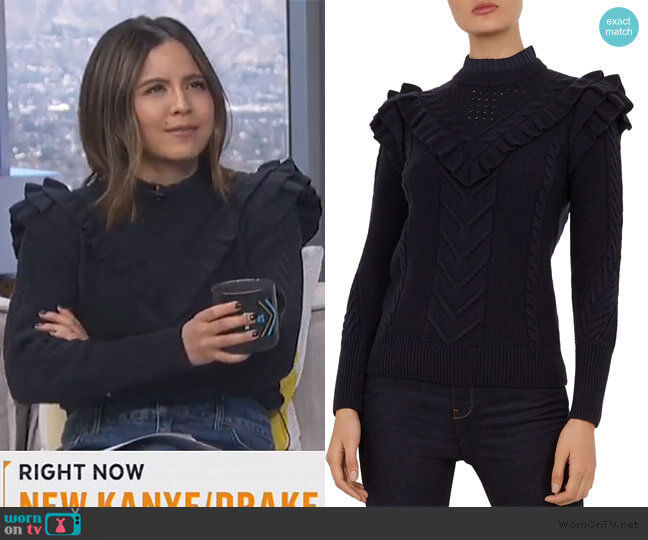 Denita Sweater by Ted Baker worn by Erin Lim  on E! News