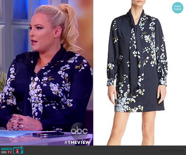 Jazmiin Graceful Tie-Neck Dress by Ted Baker worn by Meghan McCain  on The View