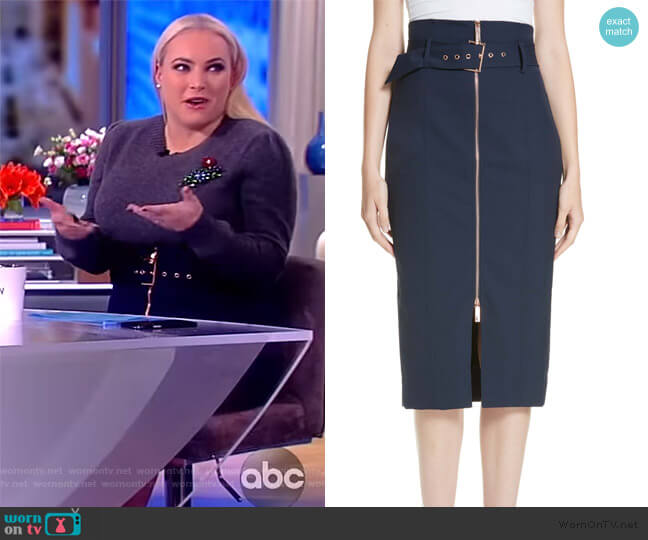 Belted Pencil Skirt by Ted Baker worn by Meghan McCain  on The View
