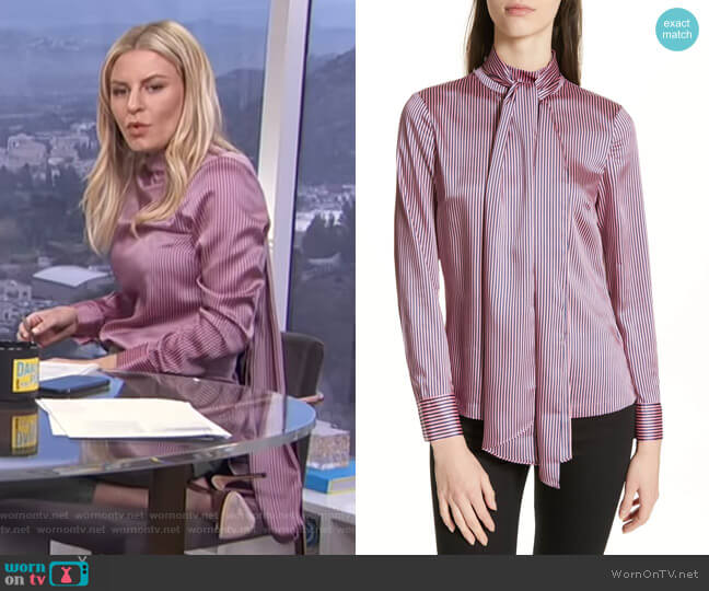 Leynta Blouse by Ted Baker worn by Morgan Stewart  on E! News