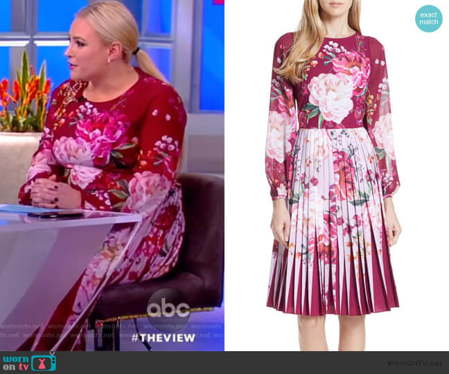 Esperan Serenity Dress by Ted Baker worn by Meghan McCain  on The View