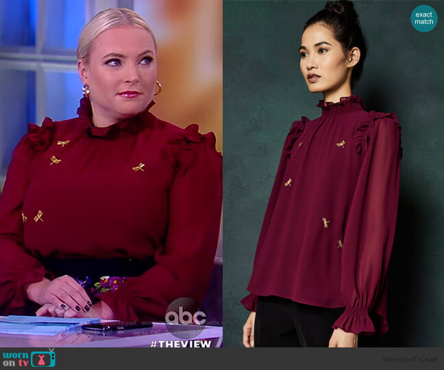 Sugar Plum embellished top by Ted Baker worn by Meghan McCain  on The View