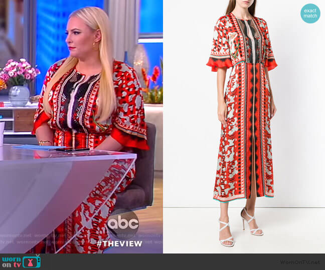 Odyssey midi dress by Temperley London worn by Meghan McCain  on The View