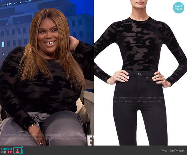 The Camo Crew Body by Good American worn by Nina Parker  on E! News