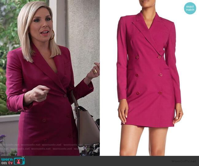 Wool Blend Blazer Styled Dress by Theory worn by Brianna (June Raphael) on Grace & Frankie