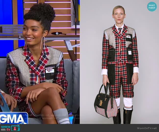 by Thom Browne - Pre-Fall 2019 Collection worn by Yara Shahidi on GMA Day