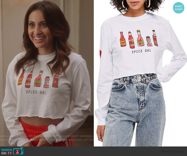 Spice Gal Crop Tee by Topshop worn by Ana Torres (Francia Raisa) on Grown-ish