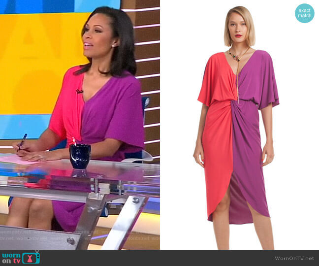 Etta Dress by Trina Turk worn by Adrienne Bankert  on Good Morning America