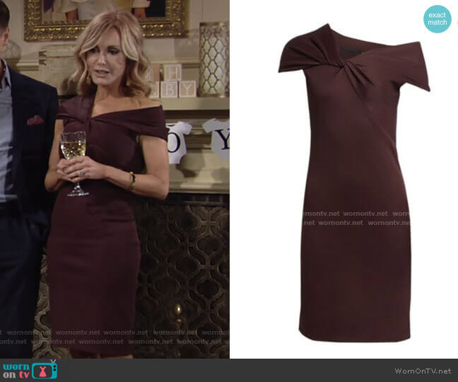 Helmut Lang Twist Rib Dress worn by Lauren Fenmore (Tracey Bregman) on The Young & the Restless