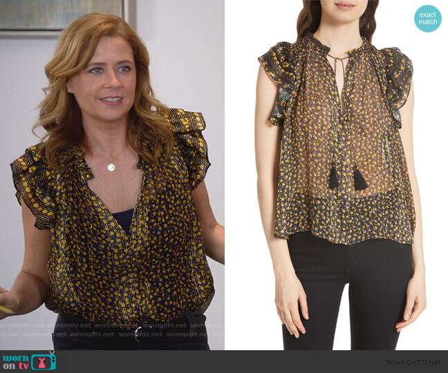 Doria Top by Ulla Johnson worn by Lena (Jenna Fischer) on Splitting Up Together