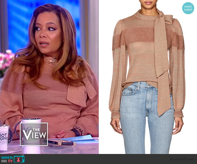 Fabia Neck Tie Pullover by Ulla Johnson worn by Sunny Hostin  on The View