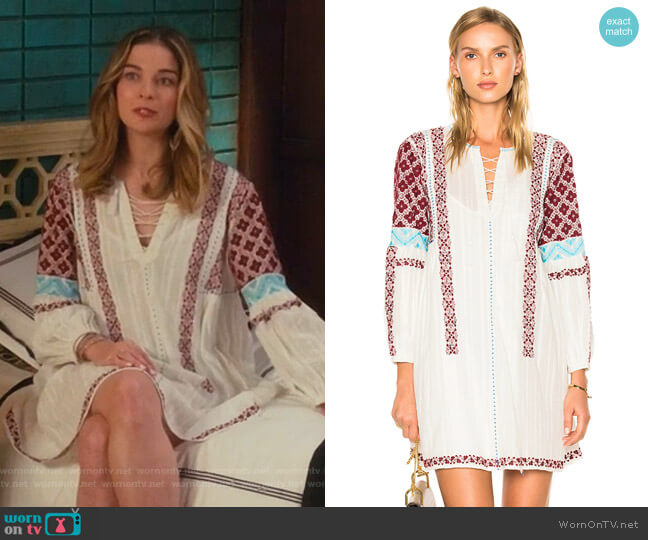 Yelena Dress by Ulla Johnson worn by Alexis Rose (Annie Murphy) on Schitts Creek