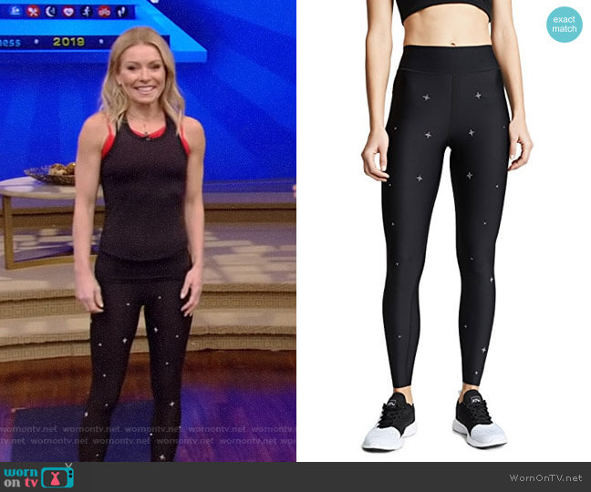 Ultra High Fit Starlight Swarovski Leggings by Ultracor worn by Kelly Ripa  on Live with Kelly & Ryan