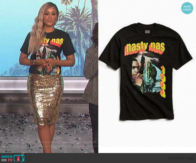 Nasty Nas Tee by Urban Outfitters worn by Eve  on The Talk