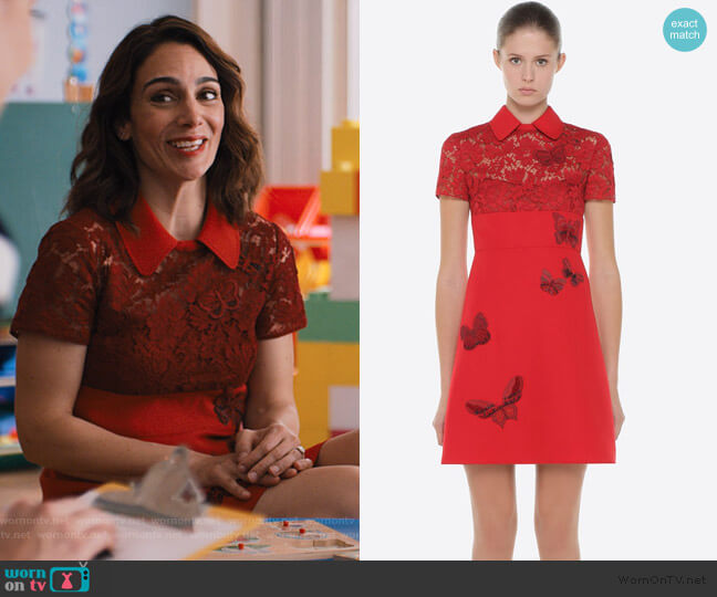 Dress with Embroidered Butterflies by Valentino worn by Samantha Delmonico (Annie Parisse) on Friends from College