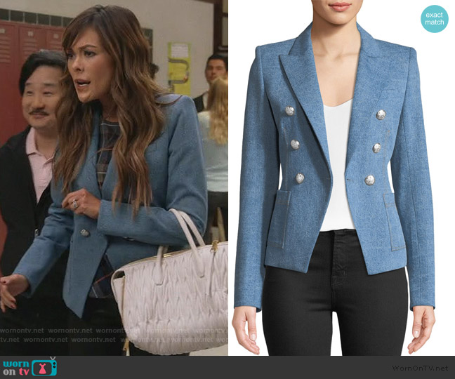 Caden Double-Breasted Dick_Season 2 Episode 9,ey Jacket by Veronica Beard worn by Camille (Lindsay Price) on Splitting Up Together
