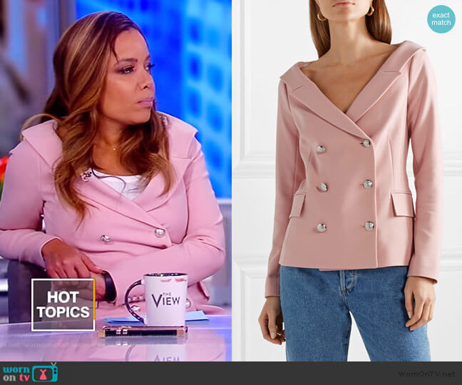 Frayne double-breasted crepe blazer by Veronica Beard worn by Sunny Hostin  on The View