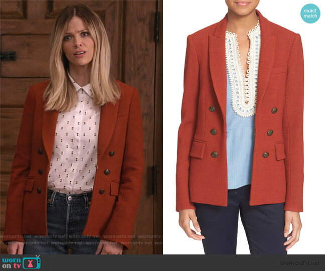 Peninsula Faux Double Breasted Blazer by Veronica Beard worn by Mallory (Brooklyn Decker) on Grace & Frankie