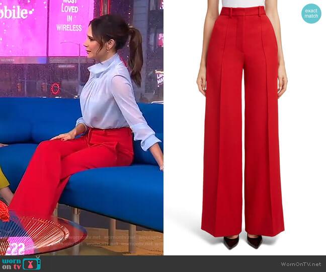 High Waist Wool Pants by Victoria Beckham worn by Victoria Beckham on GMA