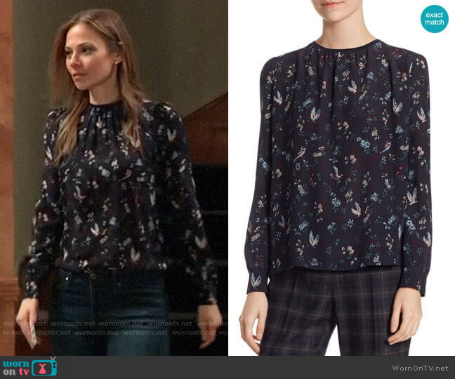 Weekend Max Mara Edmea Blouse worn by Kim Nero (Tamara Braun) on General Hospital
