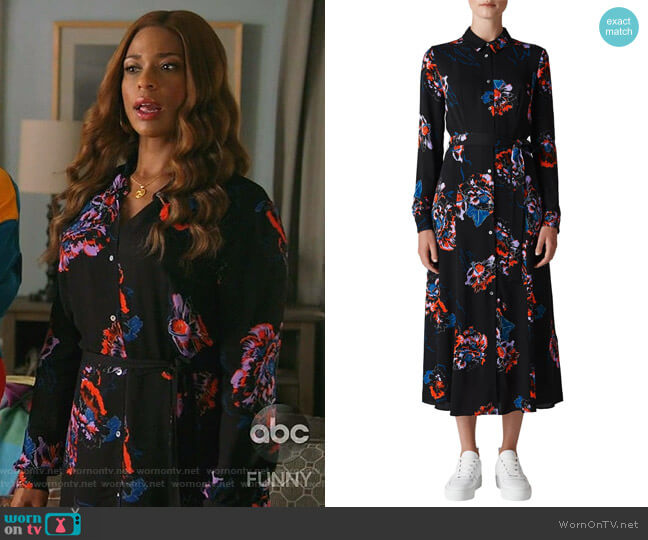 Freya Print Shirtdress by Whistles worn by Poppy (Kimrie Lewis) on Single Parents