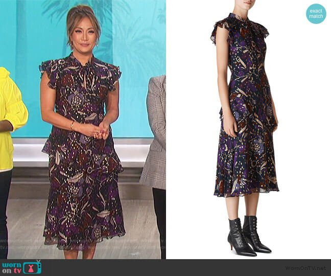 Montrose Dress by Whistles worn by Carrie Inaba  on The Talk