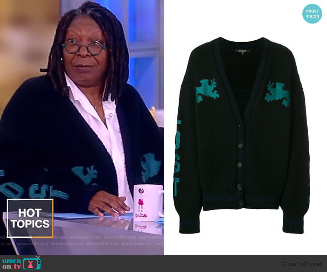 Graphic Cardigan by Yeezy worn by Whoopi Goldberg  on The View