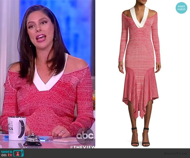Melange Knit Hankderchief Sheath Dress by Yigal Azrouel worn by Abby Huntsman  on The View