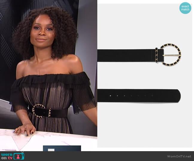 Chain Buckle Belt by Zara worn by Zuri Hall  on E! News