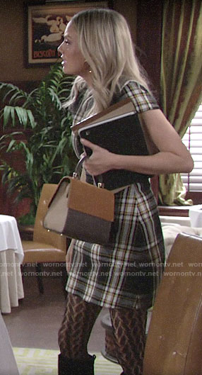 Abby's plaid dress on The Young and the Restless