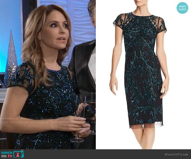 Aidan Mattox Embellished Cocktail Dress worn by Olivia Falconeri (Lisa Lo Cicero) on General Hospital