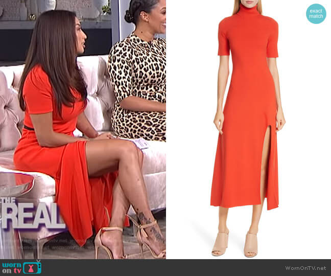 Caplan Midi Dress by A.L.C. worn by Jeannie Mai  on The Real