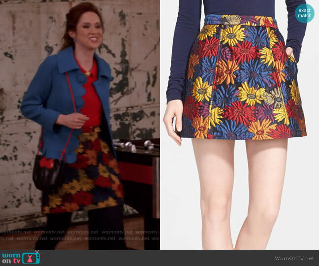 Loran Skirt by Alice + Olivia worn by Kimmy Schmidt (Ellie Kemper) on Unbreakable Kimmy Schmidt