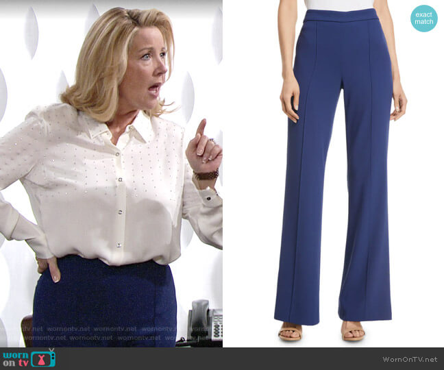 Alice + Olivia Jalisa Pants worn by Nikki Reed Newman (Melody Thomas-Scott) on The Young & the Restless