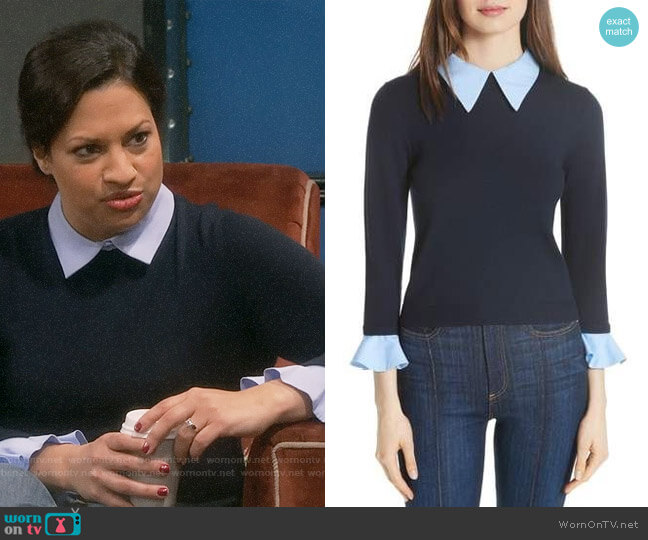 Alice + Olivia Aster Sweater worn by Anu on The Big Bang Theory