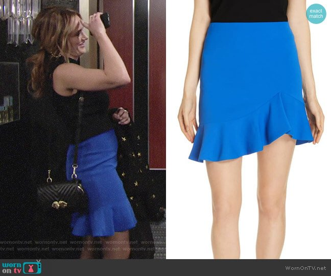 Alice + Olivia Marcella Skirt worn by Summer Newman (Hunter King) on The Young & the Restless
