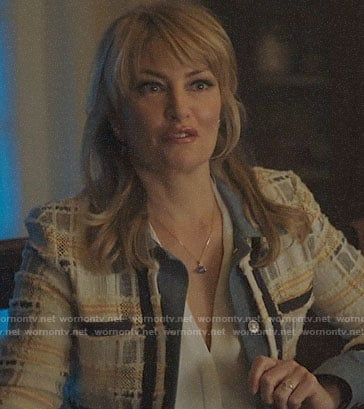 Betty's pink suede moto jacket on Riverdale
