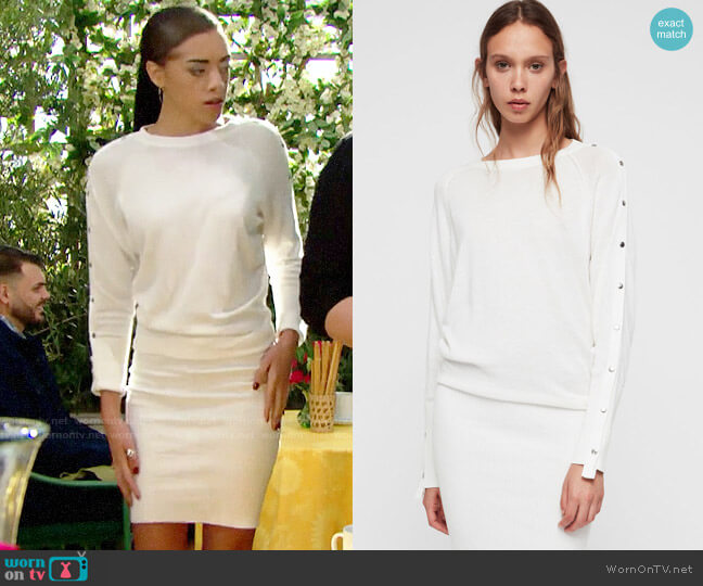 All Saints Suzie Sweater Dress worn by Zoe (Kiara Barnes) on The Bold & the Beautiful