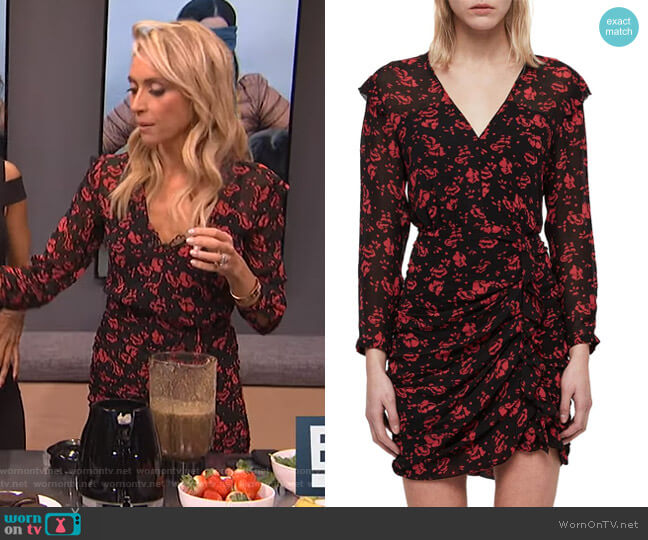Harlow Eira Print Dress by All Saints worn by Giuliana Rancic  on E! News
