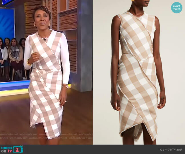Gina Dress by Altuzarra worn by Robin Roberts  on Good Morning America