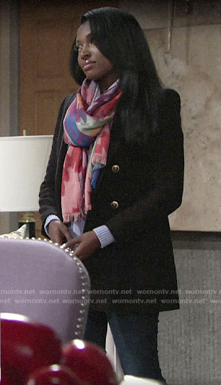 Ana's black coat on The Young and the Restless